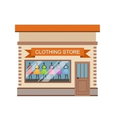 Clothing Store Commercial Building Facade Design vector image
