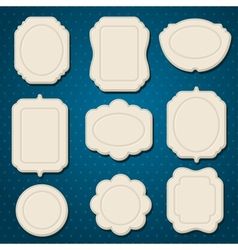 Collection of badges labels tags with bows and vector
