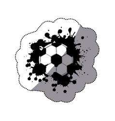 Contour soccer ball icon vector
