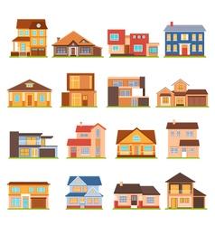 Cottage House Building Set vector