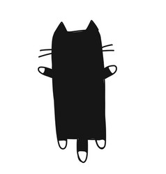 Cute cat silhouette sketch for your design vector