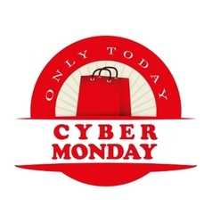 Cyber monday ecommerce design vector