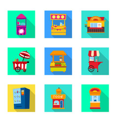 Design amusement and store logo set of vector