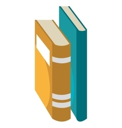 Education and book isolated flat icon vector