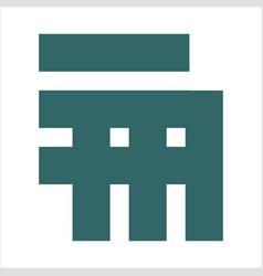 em me initials geometric company logo vector image