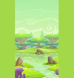 fantasy cartoon landscape vector image