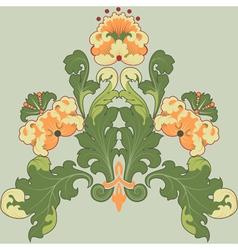 floral antique vector image