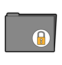 Folder with padlock icon vector