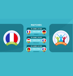 France national team schedule matches in the vector