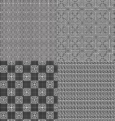 Fretwork patterns vector