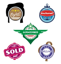 Funny badges vector