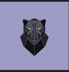 geometric black panther vector image vector image