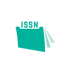 Green issn with journal icon vector
