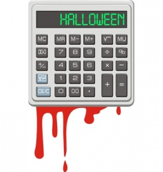 Halloween calculator vector