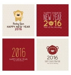 happy monkey year vector image