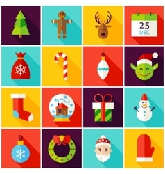 Happy new year colorful icons vector