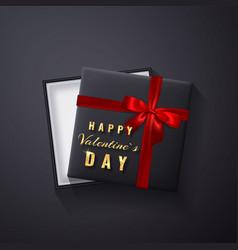 happy valentines day golden glitter sparkle gift vector image