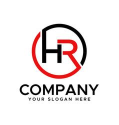 hr initial logo vector image