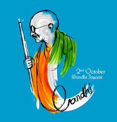 india background for 2nd october gandhi jayanti vector image