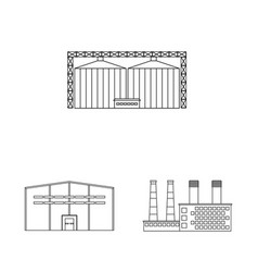 Isolated object manufacturing and company logo vector