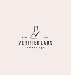 lab check verified logo icon vector image