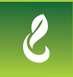 letter g green abstract logo vector image