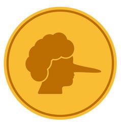 Lier gold coin vector