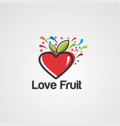 love fruit logo icon element and template vector image