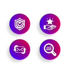 Loyalty program refresh mail and confirmed icons vector