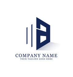 ma initial logo inspiration negative space letter vector image