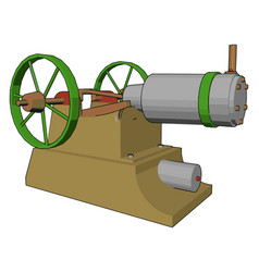 Manually operated engine machine or color vector