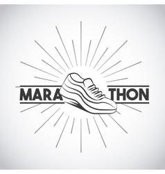 Marathon running shoes vector
