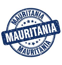 Mauritania blue grunge round vintage rubber stamp vector