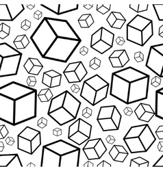 Monochrome isometric fall cubes seamles texture vector