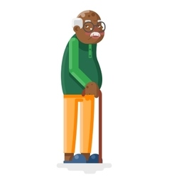 Old African Adult Grandfather Flat Design vector