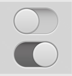 On and off toggle switch slider buttons vector
