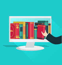 online library website books store learning vector image