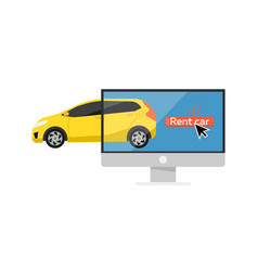 Online pre ordering car concept vector