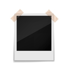 Photo frame on a white background vector image