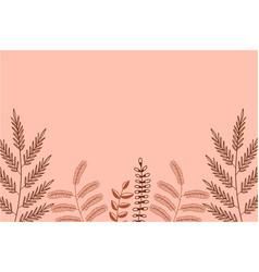 pink leaf background vector image
