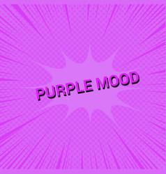 Purple mood comic concept vector