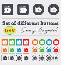 Purse icon sign Big set of colorful diverse vector image