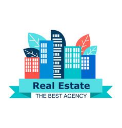 Real estate best agency vector