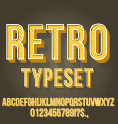 Retro vintage font vector