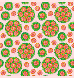 Seamless pattern with red flower vector