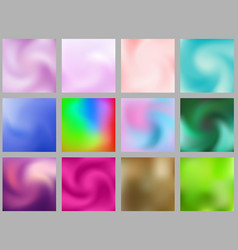 set of abstract colorful blurred gradient mesh vector image
