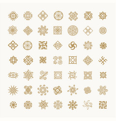 set of icons with slavic pagan symbols for your vector image