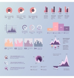 Set of infographics background vector