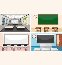 Set of modern classroom vector