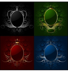 Set royal backgrounds with frame vector image